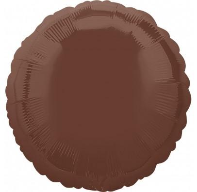 Шарик фольгированный круглый Шоколад