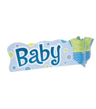 Декорация на стол Baby голубая