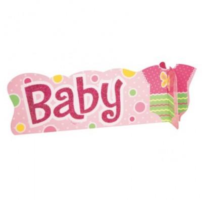 Декорація на стіл Baby рожева