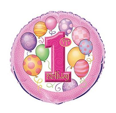 Шарик 1st Birthday розовый