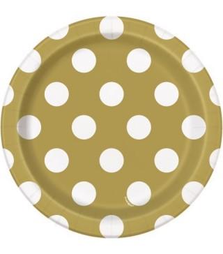 Тарілочки Золоті в горошок