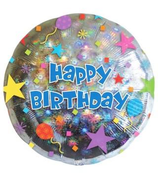Кулька фольгована Happy Birthday
