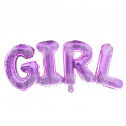 Кулька літери рожеві Girl