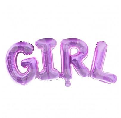 Шарик буквы розовые Girl