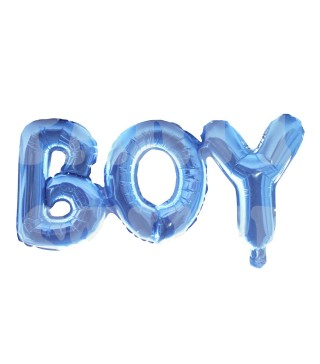 Кулька літери блакитні Boy