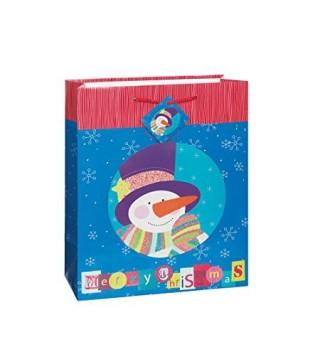 Подарочный пакет Снеговик