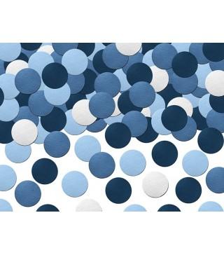 Конфеті біло-синьо-блакитне