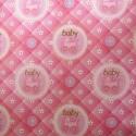 Подарочная бумага Baby розовая/голубая
