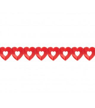 Гирлянда бумажная Сердечки 3 м