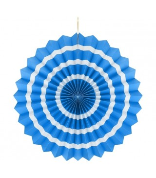 Підвіска розетка блакитна Білий пасок