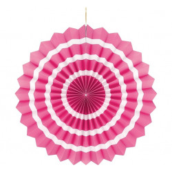 Підвіска розетка рожева Білий пасок