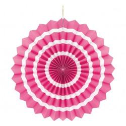 Подвеска розетка розовая Белая полоска