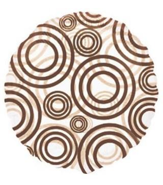 Шарик фольгированный Круги коричневые