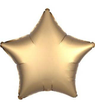 Шарик Звезда сатин золотая