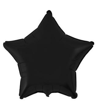 Шарик фольгированный Звезда черная