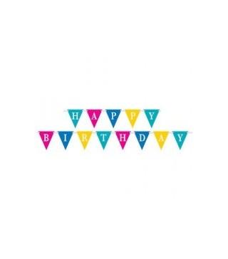 Гірлянда прапорці Happy Birthday