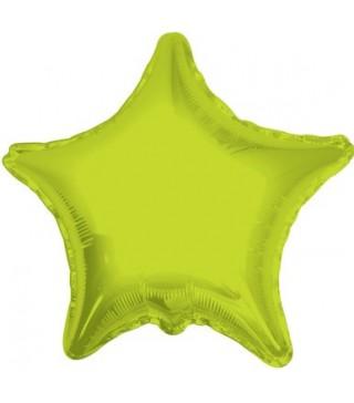 Шарик фольгированный Звезда салатовая