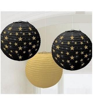 Підвіски Кулі чорні з зірками