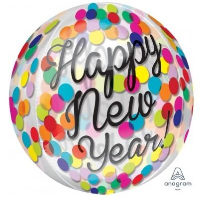 Кулька Happy New Year прозора