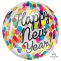 Шарик Happy New Year прозрачная