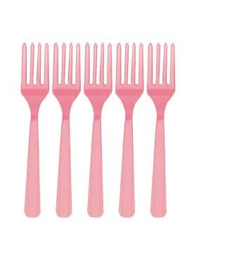 Вилки розовые 10 шт/уп.