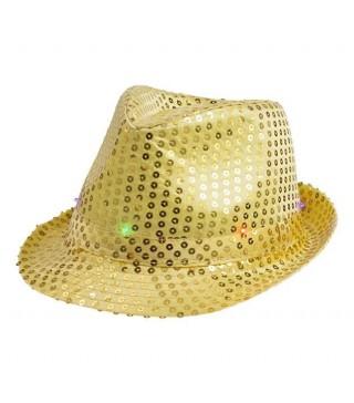 Капелюх Супер зірка миготливий жовтий