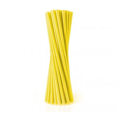 Трубочки фреш для коктейля желтые 25шт/уп