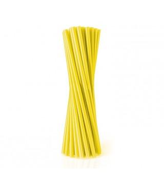 Трубочки фреш для коктейлю жовті 25шт/уп
