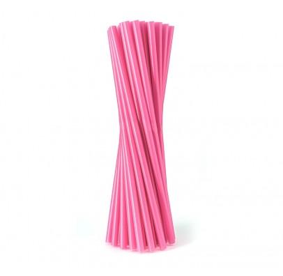 Трубочки фреш для коктейля розовые 25шт/уп