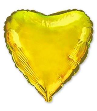 Шарик фольгированный Сердце золотое