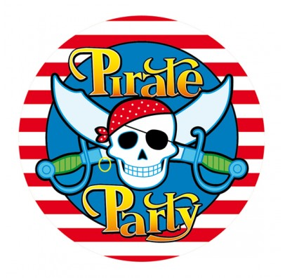 Наклейка Pirate Party