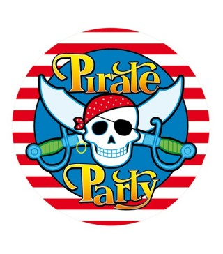 Наклейка Pirate Party