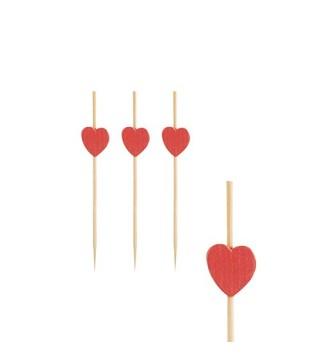 Піки бамбукові Серце 24шт/уп