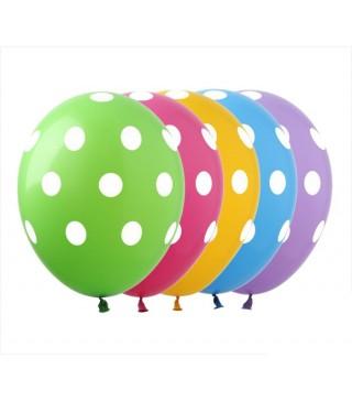 Набір кульок Полька мікс 5 шт/уп