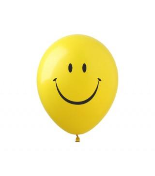 Набір кульок Смайлик жовтий 5 шт/уп