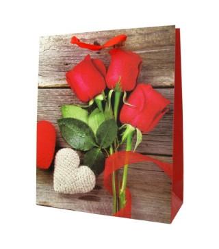 Пакети подарункові Троянди червоні асорті