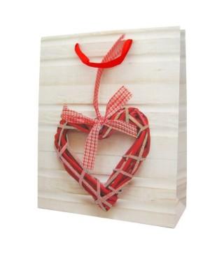 Пакет подарунковий Серце з присипкою
