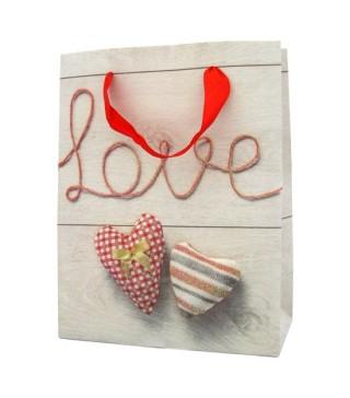 Пакети подарункові Серце асорті