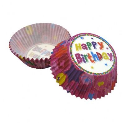 Форми для випікання мафінів Happy Birthday 25 шт/уп