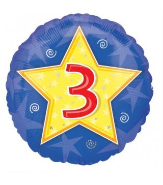 Шарик круглый Цифра 3