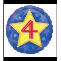 Шарик круглый Цифра 4