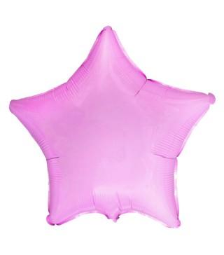 Шарик Звезда розовая пастель