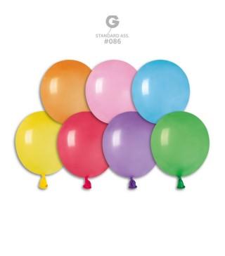 """Кульки асорті 3"""" (8см) пастель 100шт/уп"""