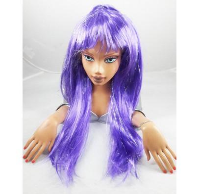 Парик с люрексом фиолетовый