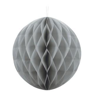 Бумажный шар-соты серебряный 30 см