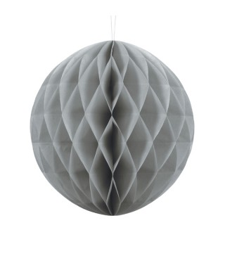 Паперова куля-соти срібна 30 см