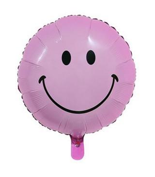 Шарик круглый Smile розовый