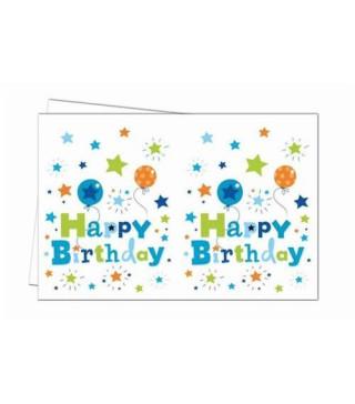 Скатертина Happy Birthday блакитна