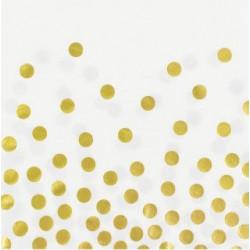 Серветки Білі золотий горох 12шт/уп