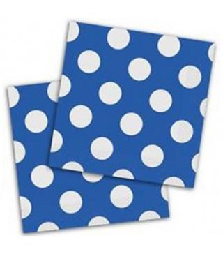 Серветки Горошок міні сині